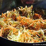 recette Salades de carottes et courgettes avec une vinaigrette sauce soja