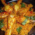 recette Pilons de poulet riz pilaf aux poivrons