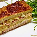 recette Croque cake au bacon tranches de rôti de porc à la mozzarella
