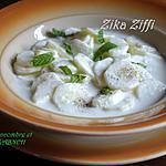 recette SALADE DE CONCOMBRE AU LABNEH (LABNE)/ FAIT MAISON