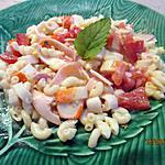 recette salade de coquillettes au surimi sauce onctueuse (reste de pates oupa)