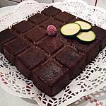 recette MOELLEUX CHOCOLAT/COURGETTE