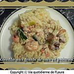 recette Risotto, mélange de fruits de mer et poireaux