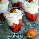 recette Mousse d'abricot à la fraise de Cyril Lignac