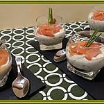 recette Verrines de Concombre à la crème et Saumon