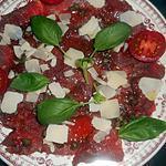 recette Carpaccio de boeuf sauce pimentée