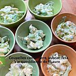 recette Coupelles concombre, avocat, feta