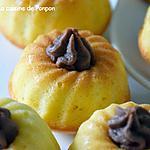 recette Muffin au lait de coco garni de ganache choco