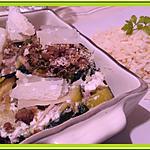 recette Crumble de Courgette et Bacon aux Herbes et à la Ricotta.