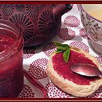 recette Confiture de Framboises à la menthe