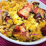 recette Boucané Porc (salaison viande  salé et fumé) aux Mangues