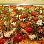 recette pizza aux st jacques et crevettes
