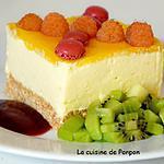 recette Bavarois à la mangue garni de framboises