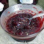 recette Confiture de fruits rouges cranberrie framboise prune