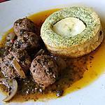 recette Boulettes d'agneau et clafoutis au chèvre