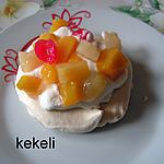 recette Pavlovas aux fruits au sirop