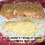 recette Dos de saumon à l'orange et sésame
