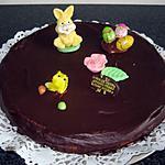 recette Gâteau de Pâques à la mousse au chocolat