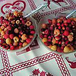 recette Fruits d'été à la crème battue