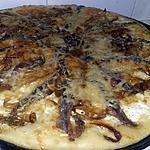 recette Fougasse pizza a la crème aux oignons et anchois
