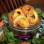 recette Mes OIGNONS FRITS accompagnement salade ou apéritif ou une soupe.