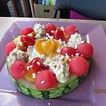 recette Tarte de pastèque aux saveurs sucré/salé de la mer