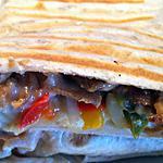 recette Tacos kebab,chèvre, poivrons et sauce blanche