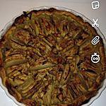 recette tarte rapido aux pommes , amande et sucre de canne