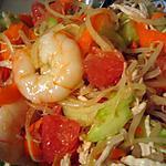 recette salade de janvier, pomelo