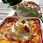 recette Ricotta rôtie au four et ses fruits jaunes au romarin
