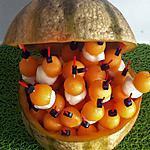 recette Brochettes apéritives melon/mozzarella