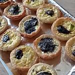 recette Mini flan apero  courgette olives