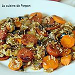 recette Salade d'aubergines, carottes et chorizo