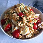 recette Salade de perles de blés, crevettes et thon