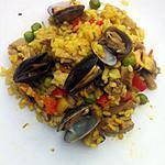 recette Riz pilaf poulet et fruits de mer
