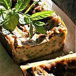 recette Cake petits pois, haricots verts, menthe-ciboulette, bio {sans gluten, sans oeufs}