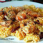 recette Crevettes de Patagonie aux pâtes et pesto calabrese