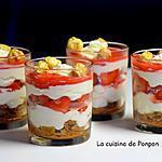 recette Verrine crème de mascarpone, fraises et spéculoos