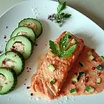recette Concombre farcie au saumon du blog ccuisine.over-blog.com