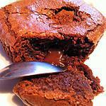 recette Fondants chocolat coeur caramel