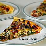 recette Feuilleté de fanes de betteraves rouges, champignons et chorizo