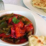 recette Chakchouka algéroise / salade de poivrons grillés