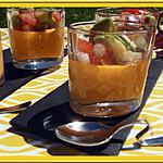 recette Panna cotta de tomate et sa salade au Thermomix
