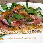 recette Tarte fine aux champignons de Paris mozzarella di Bufala et jambon Speck