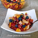 recette Salade de fruits à la liqueur de framboises