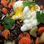 recette salade de lentilles et oeuf poché