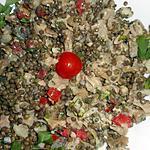 recette Salade de lentilles aux pieds de porc