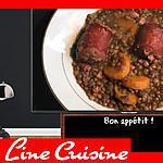 recette Saucisses lentilles (Cookeo)