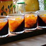 recette Confiture bicolore pêche et prune rouge à l'anis