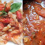 recette FUSILONNI SAUCE TOMATE AU CRABE